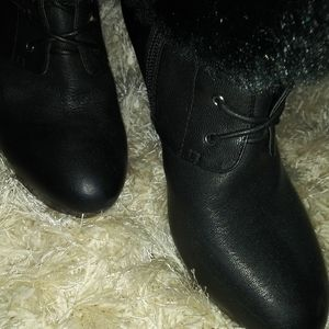 Saks Fifth Ave Furr boots 7m